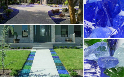 Landscape glass mulch for architects and contractors