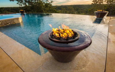 Fire and pool fire bowls for architects and contractors