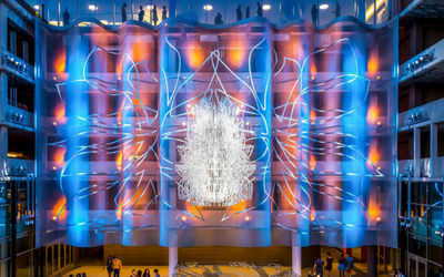 Architectural Mesh used in an outdoor art installation