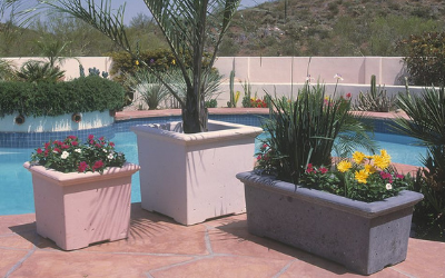 Concrete planters are super durable and will last for years
