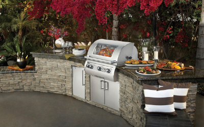 Customize your outdoor kitchen with our built in grills and outdoor rated appliances