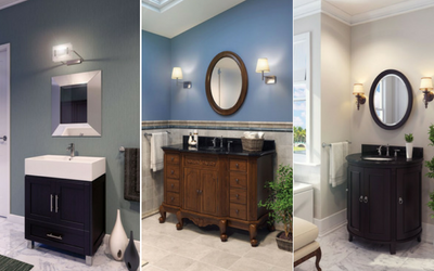 Bathroom vanities and mirrors for all decor styles