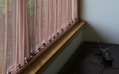 These safety mesh curtains are at an Air Force base