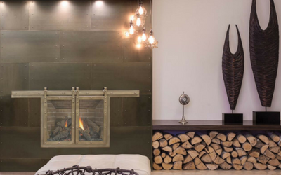 Steel accent wall panels are great for rustic or industrial themed rooms