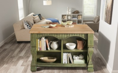 Kitchen islands are perfect for small apartments or condos