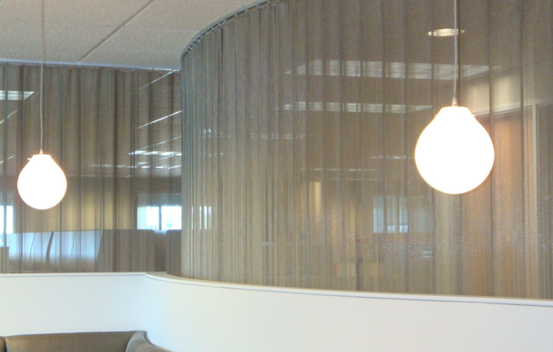 Waiting rooms are separated from the office area with mesh