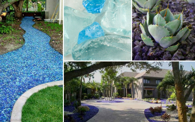Landscape Glass Mulch for Xeriscaping