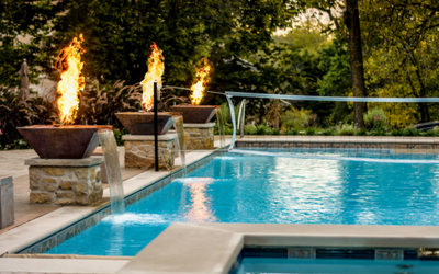 Pool fire bowls