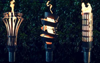 Permanent tiki torches