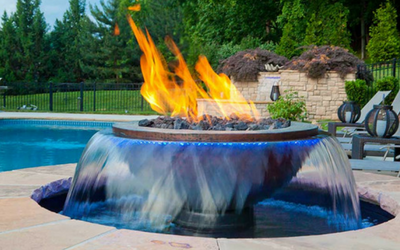 Give your backyard the wow factor with a 360 fire and water fountain