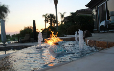 Upgrade your poolscape with fire on water manifolds