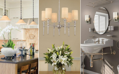 Indoor lighting for bathrooms, dining areas, and more!