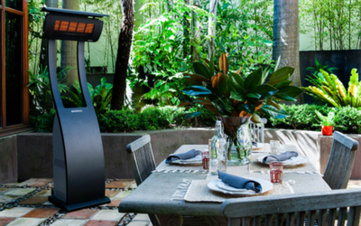 Keep your guests warm outdoors with infrared heaters by Bromic