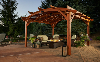 Create a stylish, shady outdoor spot with a pergola