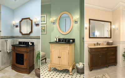 We have matching bathroom mirrors and vanities