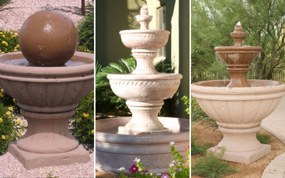 Concrete fountains instantly add elegance to any outdoor setting