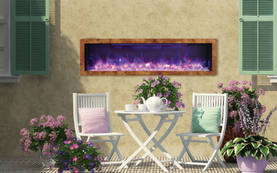 Electric fireplaces can be used all year around with control over the blower
