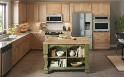 Add extra counter space to your kitchen with an island