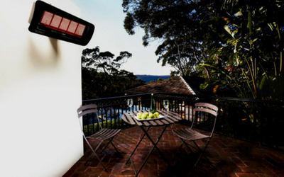 Enjoy the outdoor even in the cooler months with an infrared patio heater