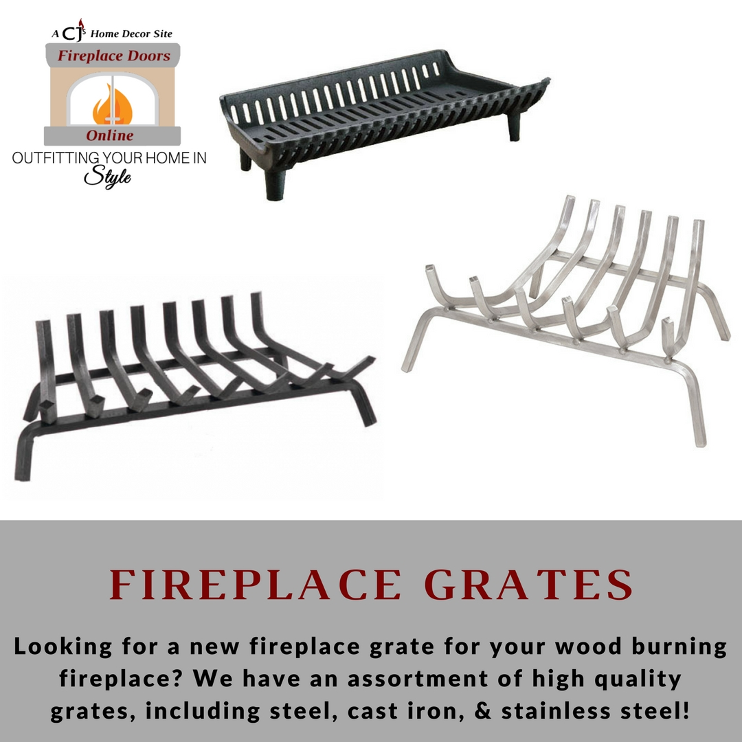 Get a brand new log grate for your wood burning fireplace!