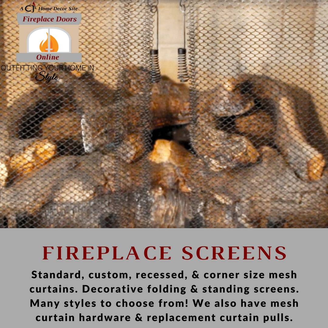Add a layer of protection to your wood burning fireplace with a mesh safety screen!