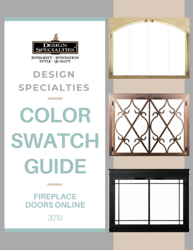 Design Specialties color swatch guide for fireplace doors flipbook
