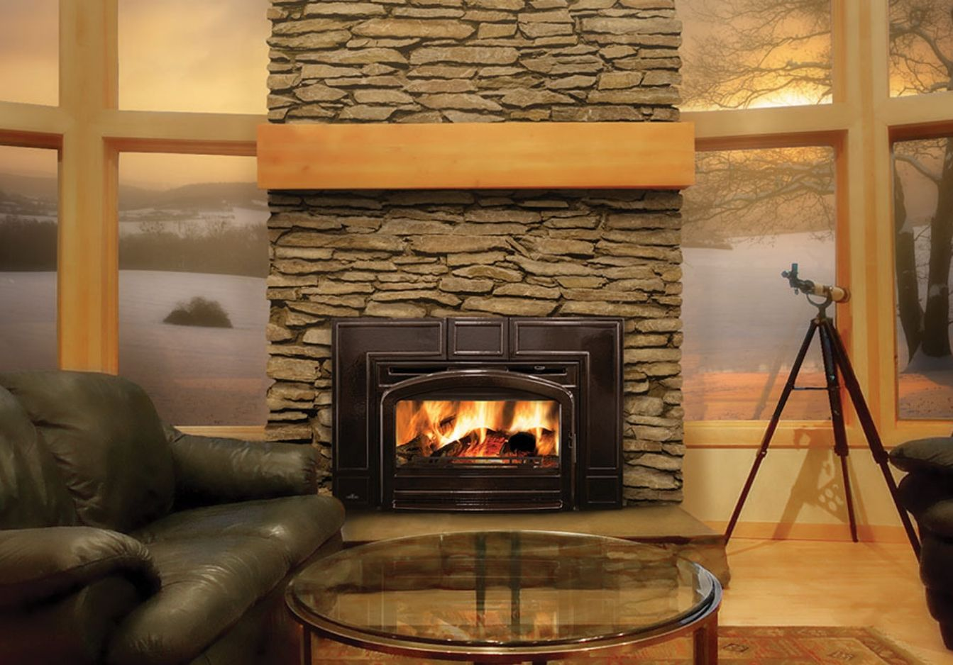 View our full line of wood burning fireplace inserts at Fireplace Doors Online