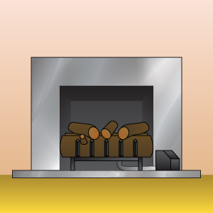 Improper Gas Log Set-Up