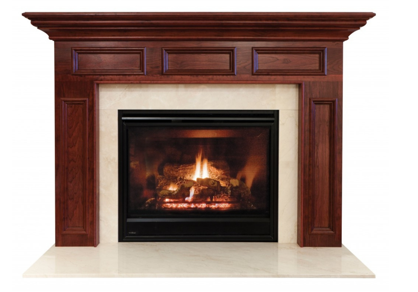 Our collection of wood, traditional fireplace mantels on Fireplace Doors Online
