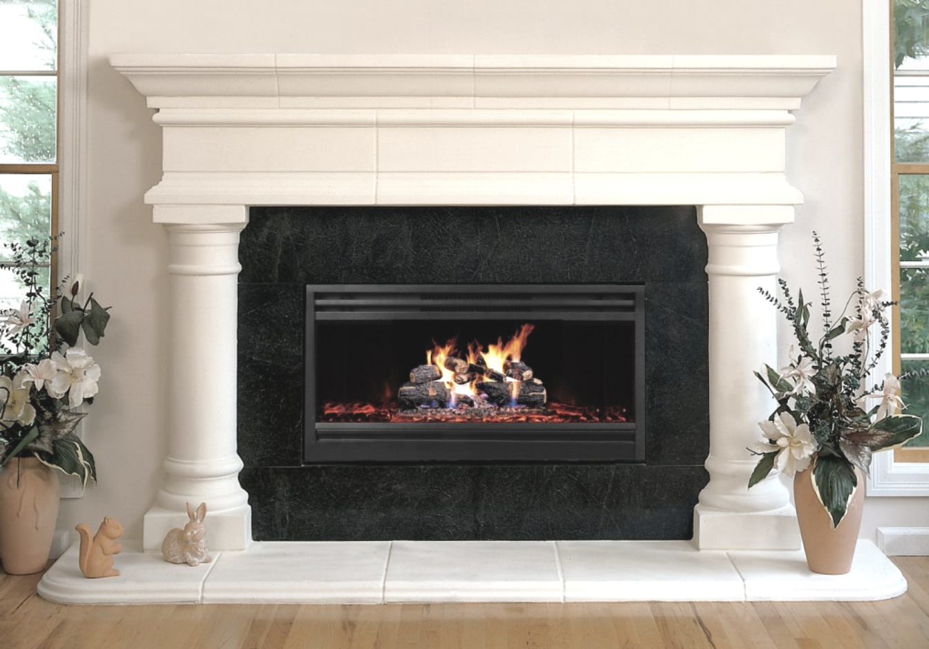 Our collection of stone mantels on Fireplace Doors Online