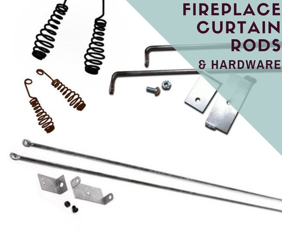 Fireplace Curtain Rods and Hardware for Hanging Mesh Fireplace Curtains