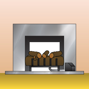 Improper Gas Log Set-Up for See Thru Fireplaces