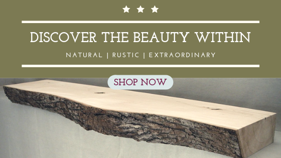 Shop now at Cjs Log Mantels for rustic log fireplace mantels