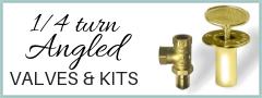 1/4 turn angled valves & kits