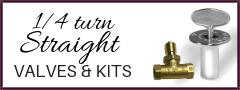 1/4 turn straight valves and kits