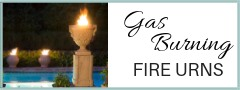 Gas Burning Fire Urns