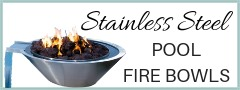 Stainless Steel Pool Fire Bowls