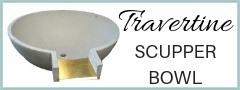 Travertine Scupper Bowl