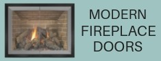 Modern fireplace glass doors from masonry fireplaces