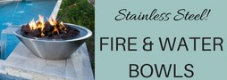 Stainless Steel Fire And Water Bowls