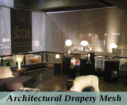 Decorative architectural drapery mesh