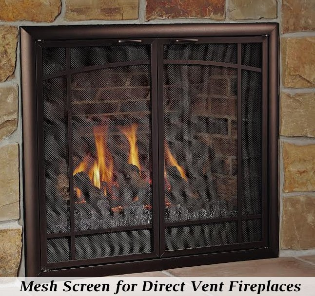 Direct Vent Gas Fireplace Safety Screens