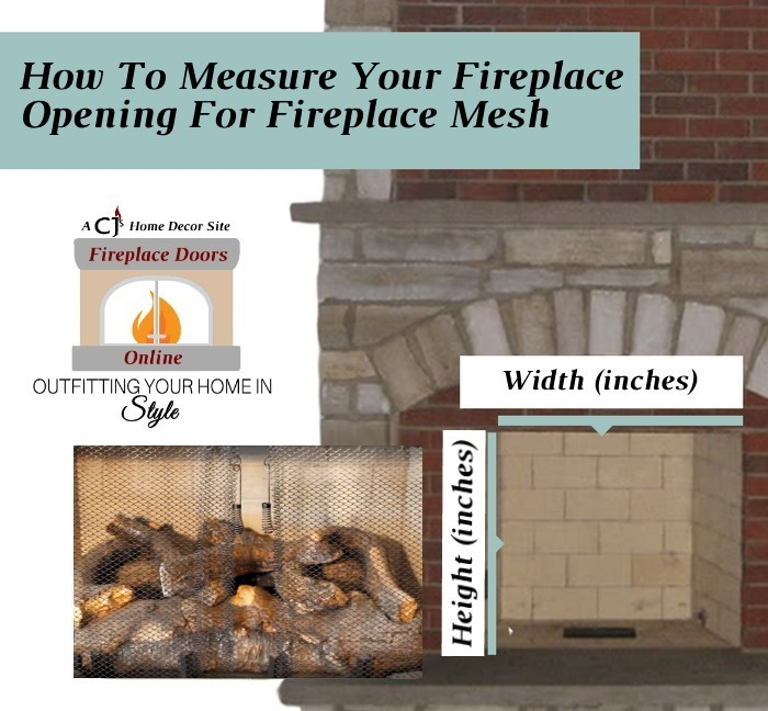 How to measure for fireplace mesh
