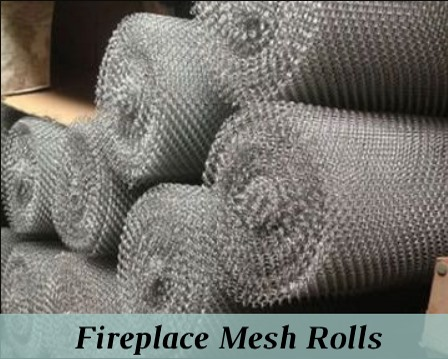 Fireplace Mesh Rolls - 33 linear feet with 1/4 inch weave or 3/16 inch weave mesh
