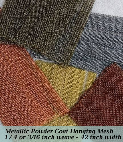 1/4 inch metallic hanging mesh for masonry fireplaces up to 42 inches wide