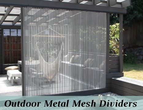 Outdoor Metal Mesh Curtain Dividers