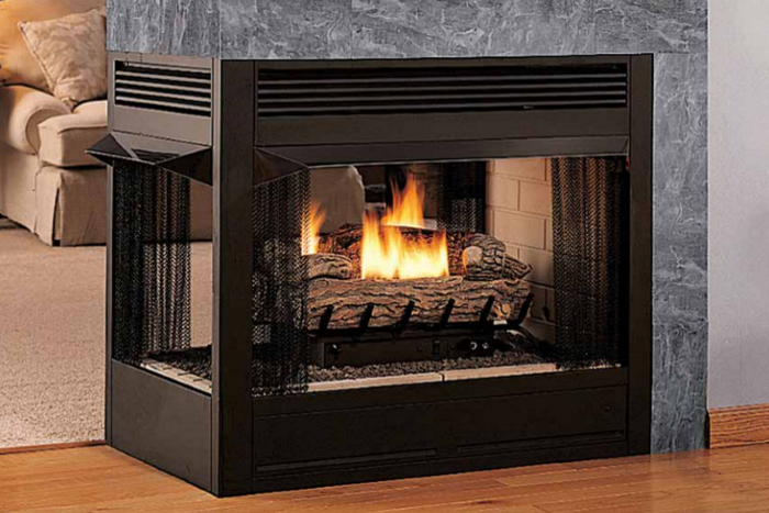 Peninsula or multi-sided fireplace