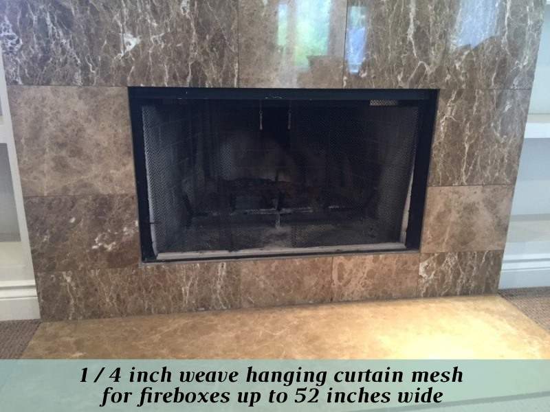 1/4 inch weave hanging curtain mesh for fireboxes up to 52 inches wide