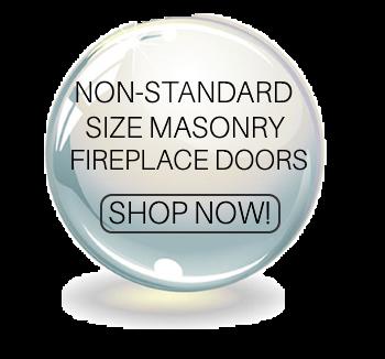 Non standard size masonry fireplace doors
