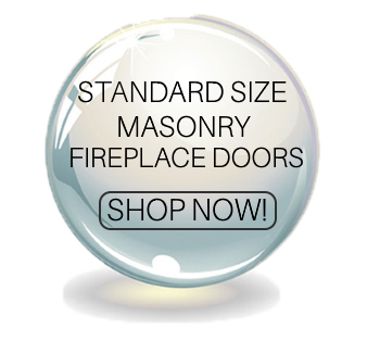 Standard Size masonry fireplace doors